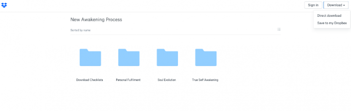 Dropbox download New Awakening Process screenshot